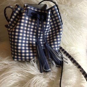 J. Crew Gingham Bucket Purse